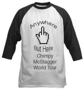 Chimpy's Anywhere But Here Tour Tee Shirt