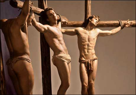 Get off the cross, someone needs the wood.