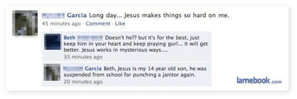 jesus on facebook