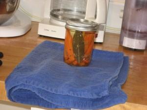 TG carrots in a jar