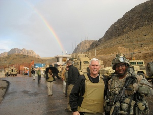 Mike Pence was in a war zone once before. Never found the pot of gold.