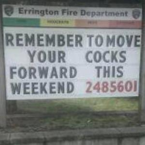 Move your cocks forward