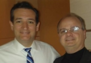 Ted Cruz with Dr. Chaps, Demon Hunter.