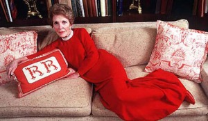 Nancy Reagan glamor couch
