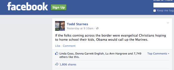 Todd Starnes Status