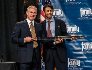 Christian Nationalist awards Bobby Jindal—and we're not making this up—The Gladiator Award
