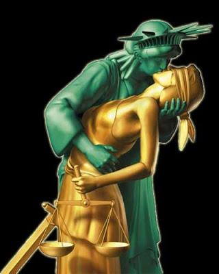 Liberty kisses Justice