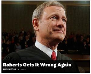 Roberts Gets It Wrong