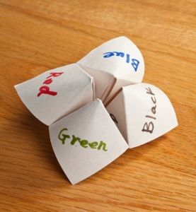 The cootie catcher says...
