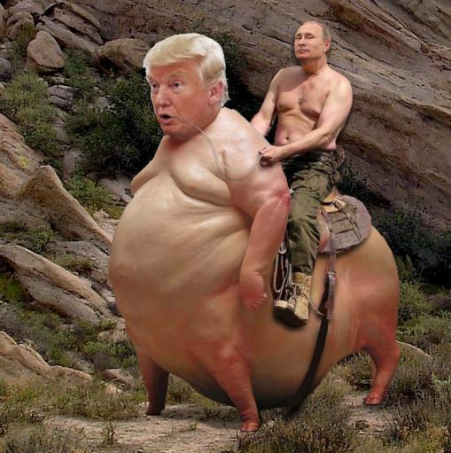 Putin Rides Again  (credit: The Art of Buddy McCue via Scissorhead B-4)