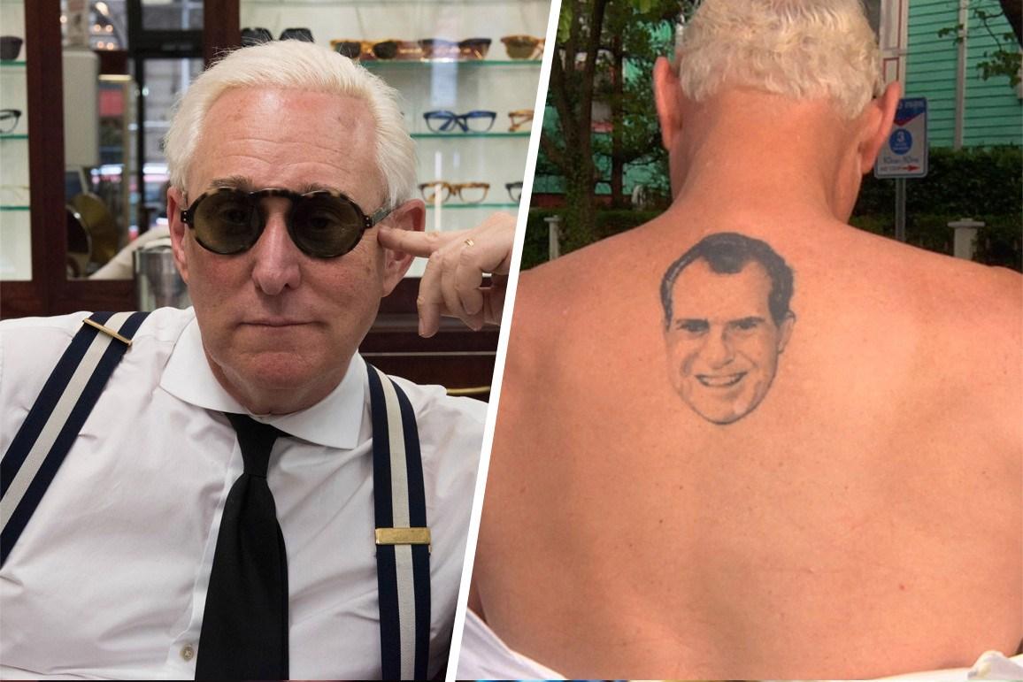 Roger stone tattoo